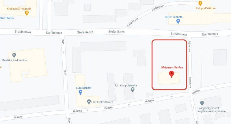 mapa kde je muzeum
