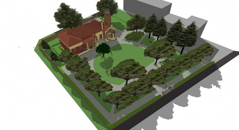 vizualizácia buúceho parku