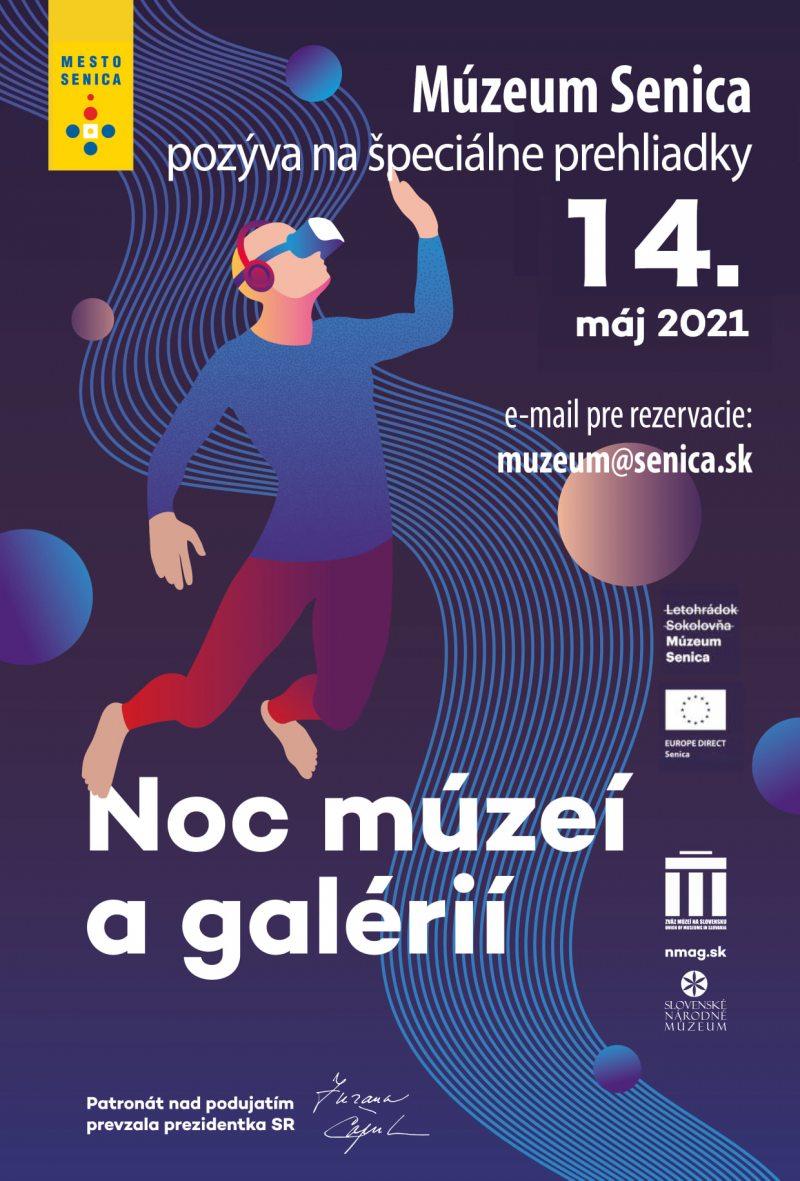 plagát noc múzeí a galérií 2021