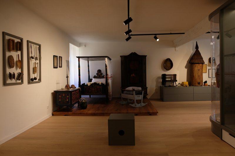 pohlad na expozíciu muzea Klobouky u Brna